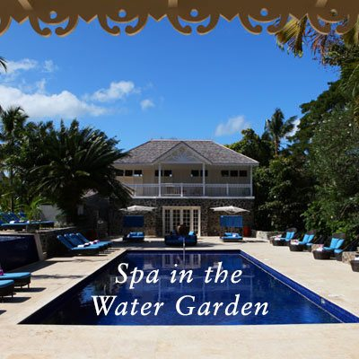 Spa in the water garden St Lucia