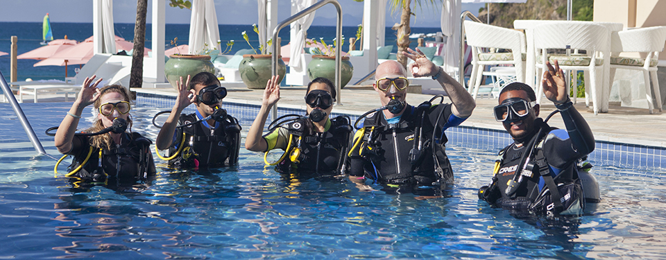 Scuba Training at Resort