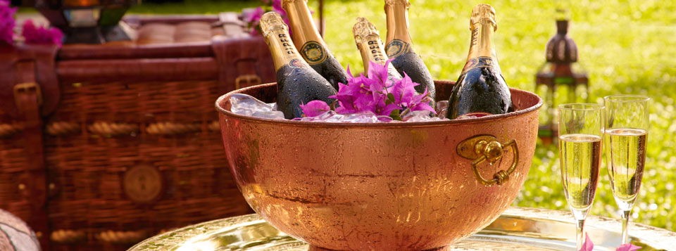Champagne in Exotic Oasis Package